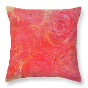 Beefy Roses Throw Pillow