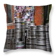 Beer Cans Throw Pillow