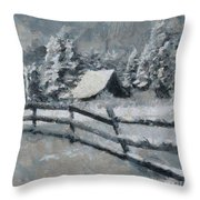 Before The Blizzard Throw Pillow