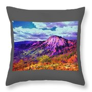 Behind The Lone Cone Throw Pillow