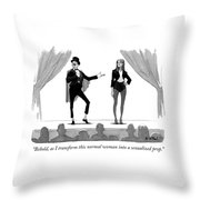 Behold Throw Pillow