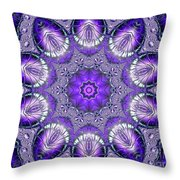 Bejeweled Easter Eggs Fractal Abstract Throw Pillow by Rose Santuci-Sofranko