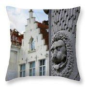 Belgian Coat Of Arms Throw Pillow by Nathan Bush