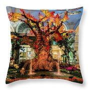 Bellagio Conservatory Enchanted Talking Tree Ultra Wide 2018 2.5 To 1 Aspect Ratio Throw Pillow