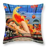 Bellagio Conservatory Falling Asleep Display Wide 2018 2.5 To 1 Aspect Ratio Throw Pillow