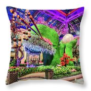 Bellagio Conservatory Spring Display Front Side View Wide 2018 2 To 1 Aspect Ratio Throw Pillow