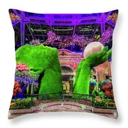 Bellagio Conservatory Spring Display Ultra Wide 2 To 1 Aspect Ratio Throw Pillow