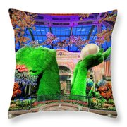 Bellagio Conservatory Spring Display Ultra Wide Trees 2018 2 To 1 Aspect Ratio Throw Pillow