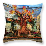 Bellagio Enchanted Talking Tree Ultra Wide 2018 2 To 1 Aspect Ratio Throw Pillow