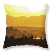 Bellevue Eastside Morning Light Atmosphere Throw Pillow