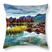 Belluno Mountains Throw Pillow