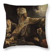 Belshazzar S Feast  Throw Pillow