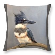 Belted Kingfisher Painting By Mike Mccaughin