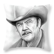 Ben Johnson Throw Pillow