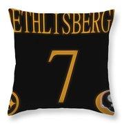 Ben Roethlisberger Jersey Throw Pillow