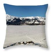 Bennett Lake At Carcross Yukon Throw Pillow