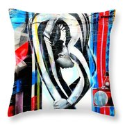 Bent Over Backward  Throw Pillow