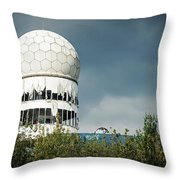 Berlin - Teufelsberg Listening Station Throw Pillow