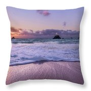 Bermuda Sunrise Welcome To Heaven Crossbay Beach Throw Pillow