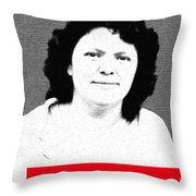 Berta Caceres Throw Pillow by MB Dallocchio