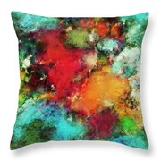 Between The Rivers Throw Pillow
