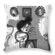 Beware Of The Snarkle Beast Throw Pillow