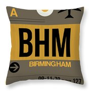 Bhm Birmingham Luggage Tag I Throw Pillow