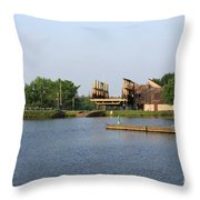 Big Chute Marine Railway, Trent Severn Waterway, Ontario Throw Pillow