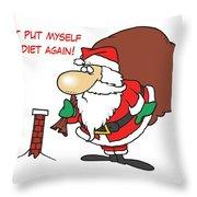 Big Fat Santa And Tiny Chimney Throw Pillow