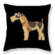Big Fox Terrier Throw Pillow