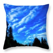 Big Sky And Trees Throw Pillow
