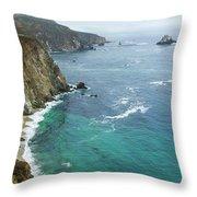 Big Sur Ocean Views Throw Pillow
