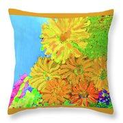 Biggie Flowers Sky Throw Pillow