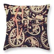 Bike Mountain Throw Pillow
