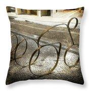 Bike Rack Throw Pillow