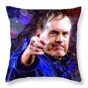 Bill Belichick Spotlight Portrait Throw Pillow