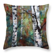 Birch Portrait I Throw Pillow