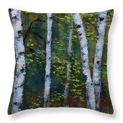 Birch Portrait II Throw Pillow