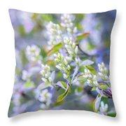 Bird Cherry Throw Pillow
