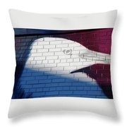 Bird Silhouette Design Throw Pillow