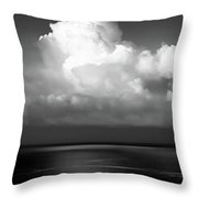 Black And White Clouds - Panorama Throw Pillow