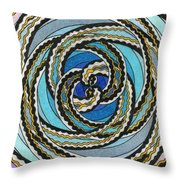 Black And White Fractal Design, Multicolored Background Throw Pillow