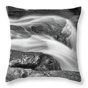 Black And White Rushing Water Throw Pillow by Louis Dallara