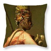Black Bashi Bazouk 1868 69 Throw Pillow