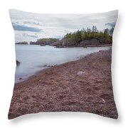 Black Beach Park Throw Pillow by Susan Rissi Tregoning