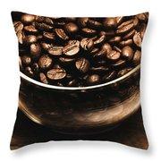 Black Coffee, No Sugar Throw Pillow