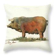 Black Iberian Pig Throw Pillow