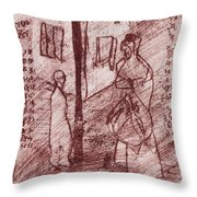 Black Ivory Issue 1b20 Throw Pillow