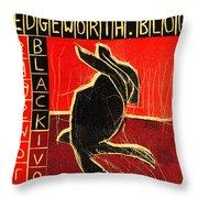 Black Ivory Rabbit Throw Pillow