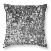 Black Outed Throw Pillow